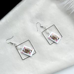 NEW Poker Playing Cards Drop Earrings